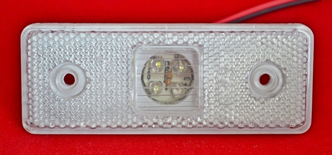 10/piezas Blanco 24/V Side Luces Frontales esbozo de marcador 4/LED Remolque chasis Cami/ón Cami/ón Caravana