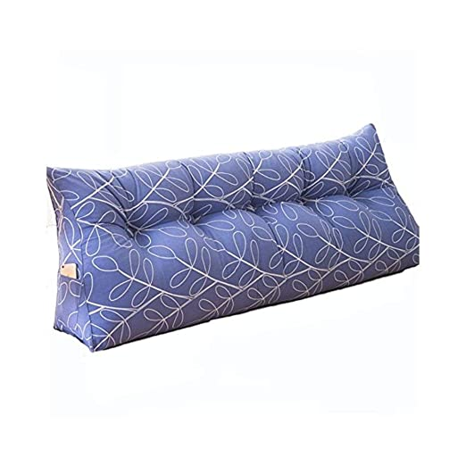 Cojines de triángulo al lado de la cama Almohadas tapizadas ...