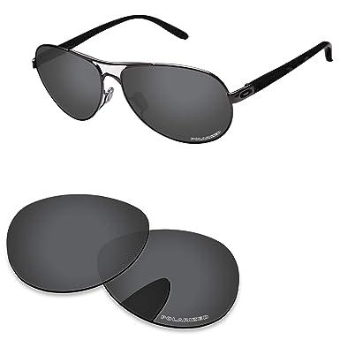 86045d565 PapaViva Lenses Replacement for Oakley Feedback Black Grey - Polarized