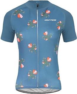 Uglyfrog Bike Wear Radsport Bekleidung Damen Summer Style Trikots & Shirts + Damen Radtrikot Set Radhose mit 3D Sitzpolster DXWZ08