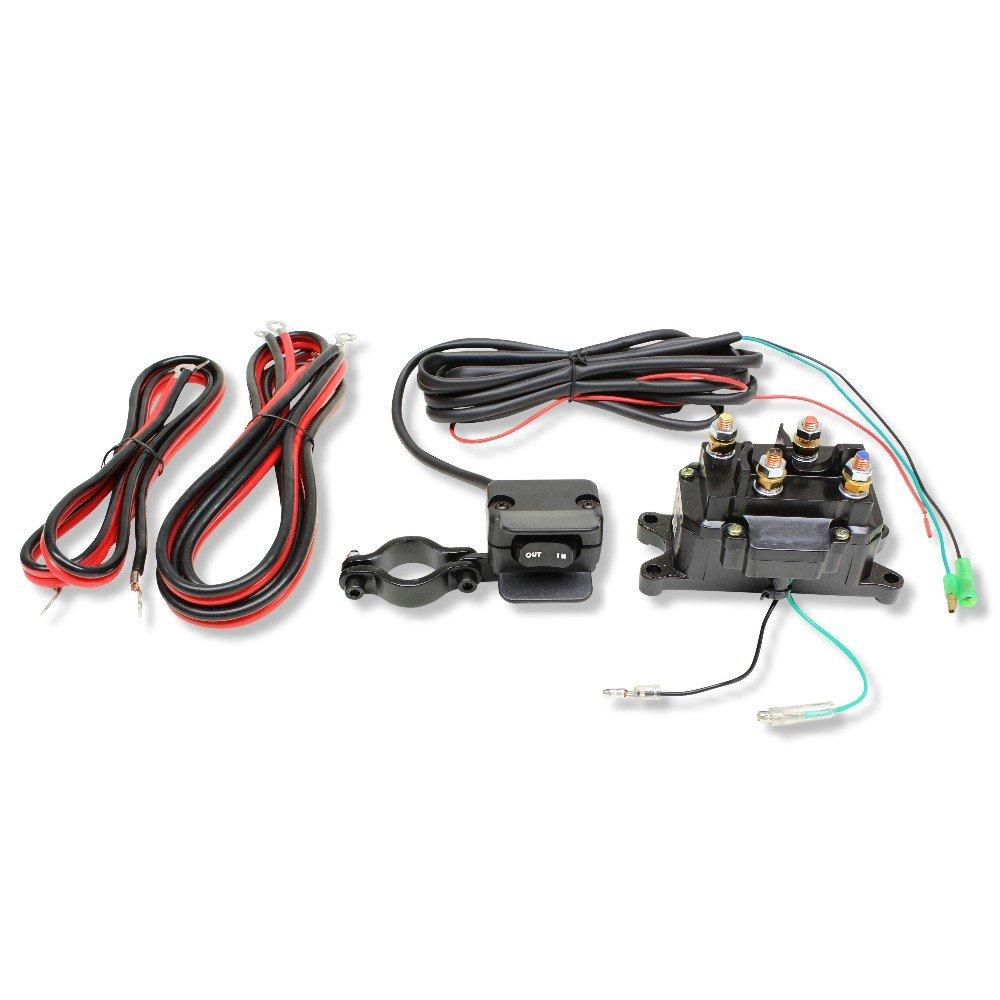 Winch Upgrade Kit 12V ATV/UTV Winch Contactor & Winch Switch ... atv winch wiring schematic Amazon.com