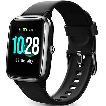 Reloj Inteligente Mujer,Smartwatch Hombre Impermeable IP68 Pulsera Actividad 1.3 Pulgada con Monitor de Ritmo cardíaco, Podómetro, Control de música, ...