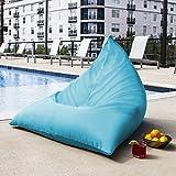 Jaxx Outdoor Bean Bag Chair, Solid, Lagoon Blue