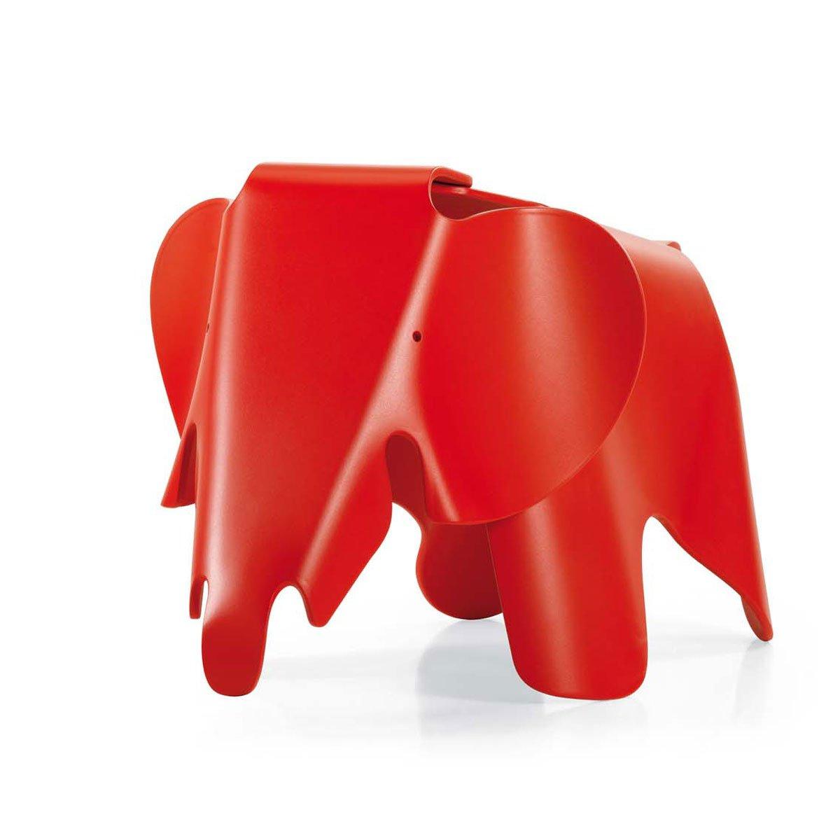 Vitra 21502903 Éléphant Eames Classic en polypropylène mat 417 x 412 x 785 mm (Rouge)