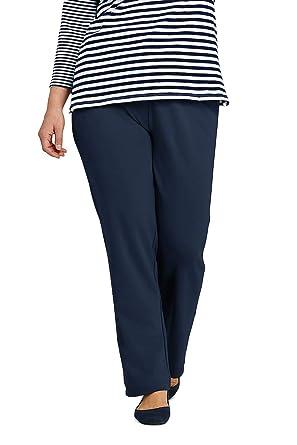 699aeb3bba1c Lands' End Women's Plus Size Petite Sport Knit High Rise Elastic Waist Pull  On Pants