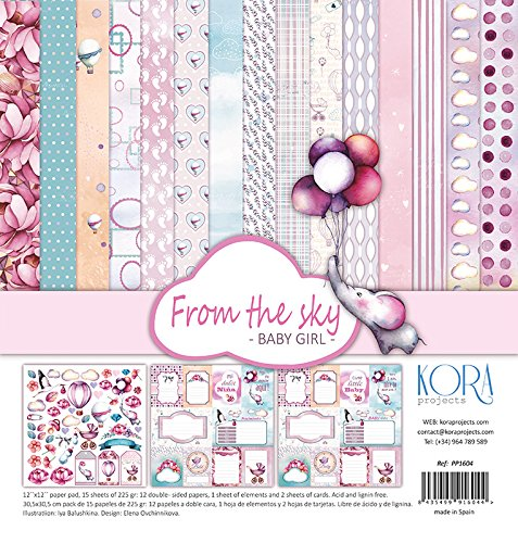 Paper Girl 12x12 (KORA projects Paper pad (15 Sheets) 12