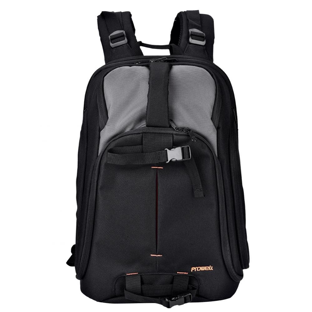 Acouto Camera Backpack, PROWELL Wear-Resistant Shockproof DSLR Camera Travel Padded Bag Backpack