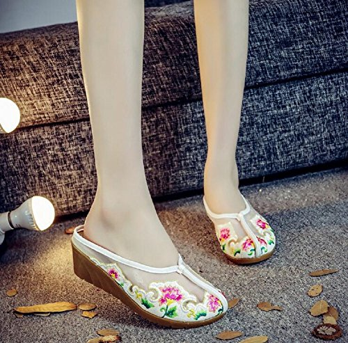 Lazutom Femme Chaussons Chaussons Blanc Lazutom pour pour F4xFTBn