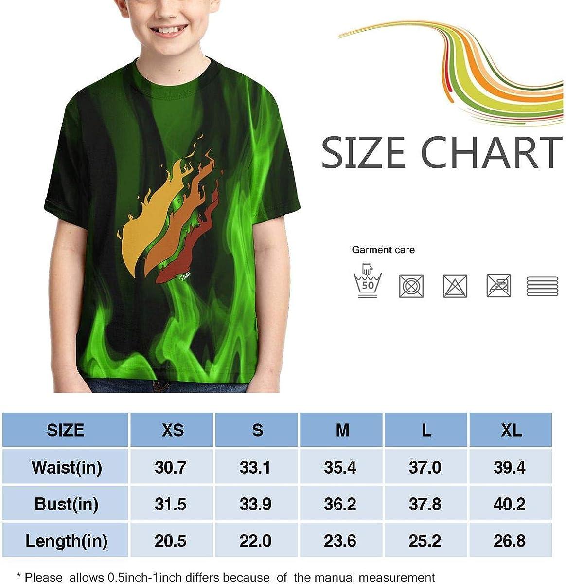 dgeewew Youth Preston Fire Nation Playz Gamer Flame Shirt Kids 3D Print Boys Video Top/&Tees