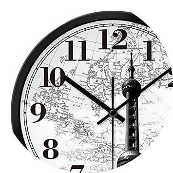 YHEGV Los Relojes Relojes y Relojes Relojes y Relojes Lounge práctica Ciclo Moderno Reloj de Pared Vintage hogar Moda Decoraciones, 14 a la aduana, ...