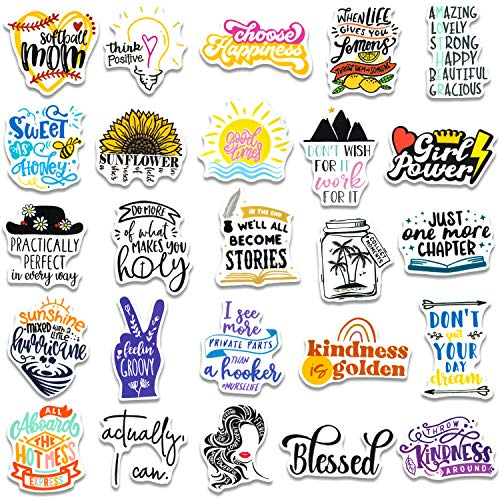 250Pcs/Pack Inspirational Stickers for Water Bottles, Motivational Stickers for Teens, Students, Teachers, Employees, Vinyl Waterproof Durable Laptop Sticker Decals for Hydroflasks Computer