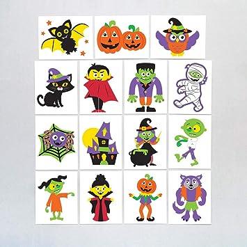 Baker Ross Calcomanías de Halloween (Pack de 24) para Bolsas Sorpresa Infantiles de Halloween: Amazon.es: Juguetes y ...