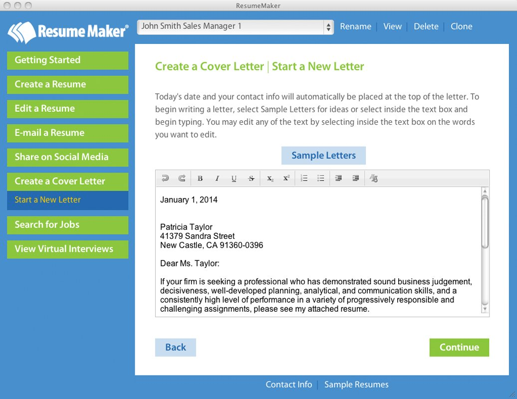 com resume maker mac software