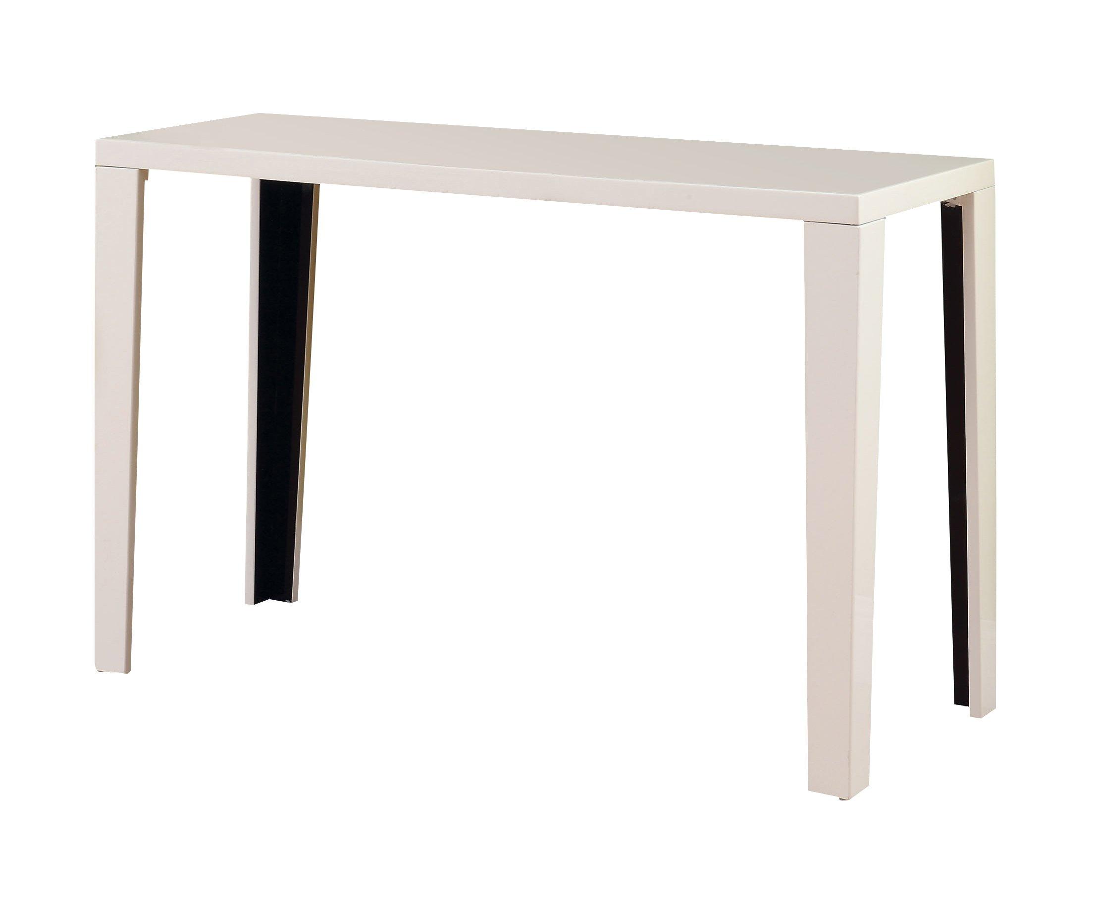 Furniture of America LeBlanc 2-Tone Sofa Table, White and Black by Furniture of America