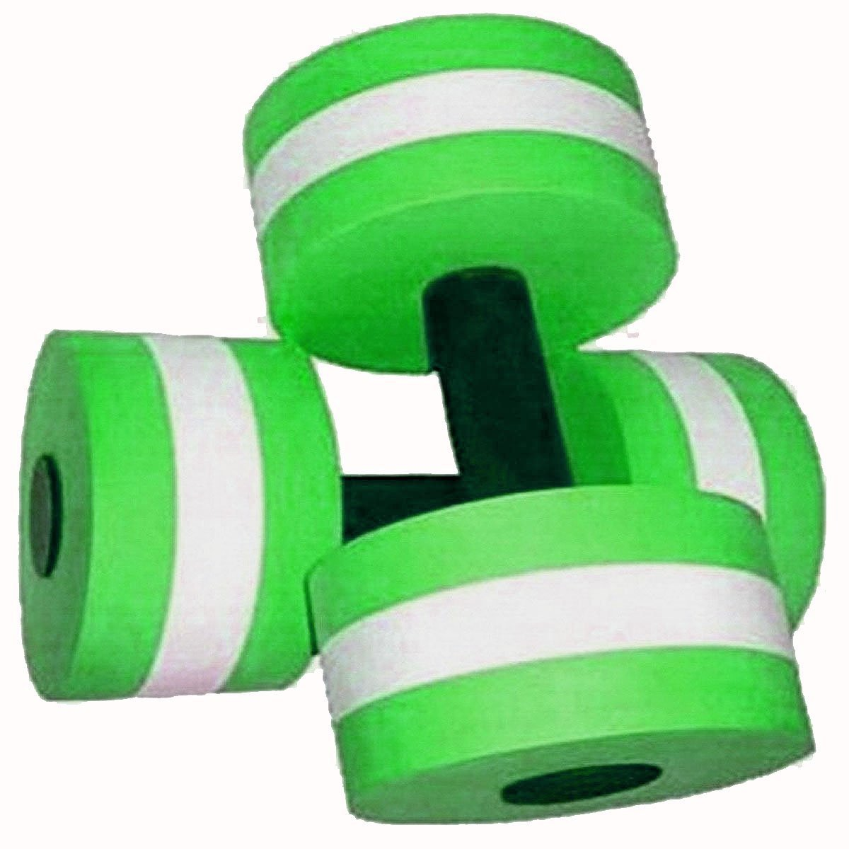 Davidamy's Gift Water Aerobic Exercise Foam Dumbells Pool Resistance 1 Pair, Water Fitness Exercises Equipment for Weight Loss Green davidamy' s gift
