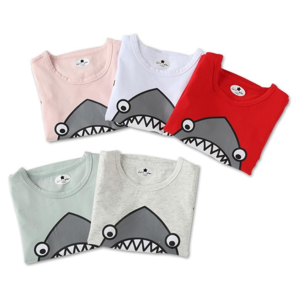 58126a252 Btruely Herren 2018 Moda ropa de Niño Verano Ropa Bebe Niño Tiburón de  dibujos animados Camiseta ...