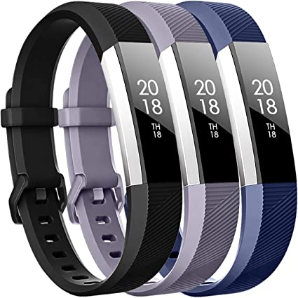 3-Pack Replacement Sport Silicone Wrist Band Strap For Fitbit Alta Alta HR
