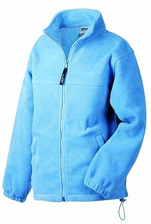James & Nicholson Fleece - Chaqueta forro polar para hombre, tamaño XXL, color azul