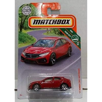 Matchbox 2020 MBX Road Trip '17 Honda Civic Hatchback 8/100, Red: Toys & Games