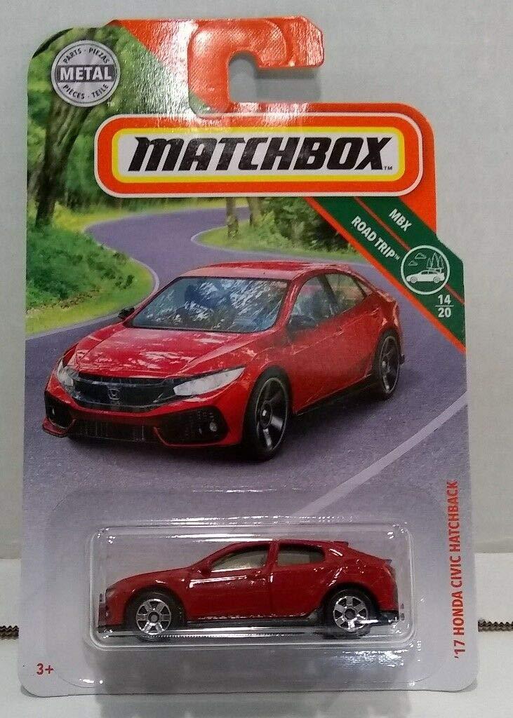Red Matchbox 2019 MBX Road Trip 14//20-17 Honda Civic Hatchback