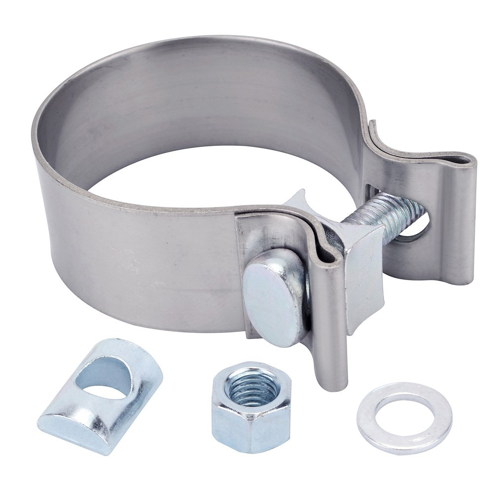 EVIL ENERGY 2.25' Exhaust Band Seal Clamp Stainless Steel Hardware Single Bolt sets Speedwow Tuning