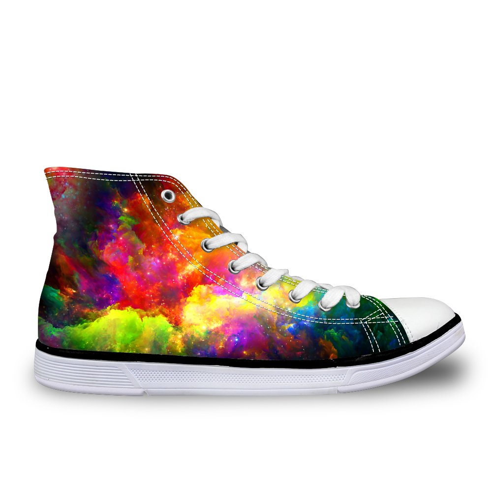 LedBack High Top Galaxy Canvas Shoes for Women Causal Sneakers Teenagers Girls Lightweight 3D Trainers B079HPC2K5 Size 11=Eur 44|Design 3