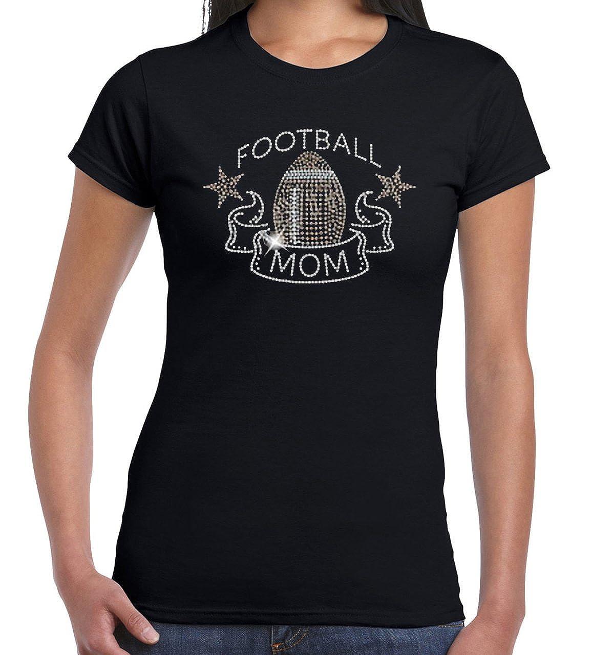 Amazon Us Custom Ink Womens Football Mom Sequin T Shirt