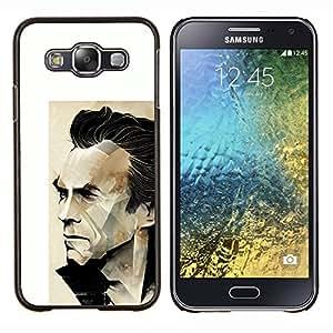 EJOOY---Cubierta de la caja de protección para la piel dura ** Samsung Galaxy E5 E500 ** --Arnold película de acción del personaje