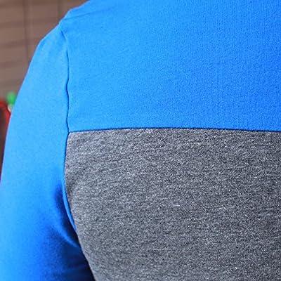 Slimbt Men's Slim Fit Hit Color Sport Hoodies Sweater Shirt