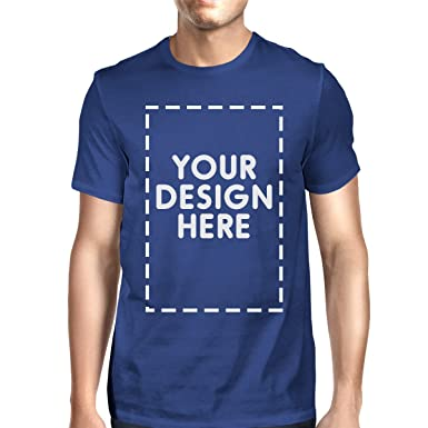 540d5b23 365 Printing Mens/Unisex Custom Tshirt Personalized Tees Your Design Here  Blue