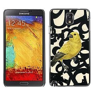 For SAMSUNG Galaxy Note 3 III / N9000 / N9005 Case , Spring Bird Numbers Abstract - Diseño Patrón Teléfono Caso Cubierta Case Bumper Duro Protección Case Cover Funda