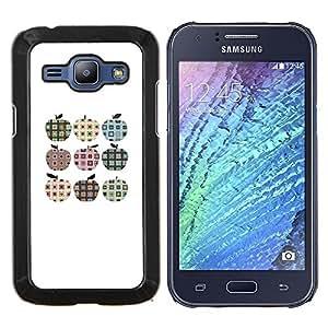 Stuss Case / Funda Carcasa protectora - A cuadros Plaid patrón minimalista de Apple - Samsung Galaxy J1 J100