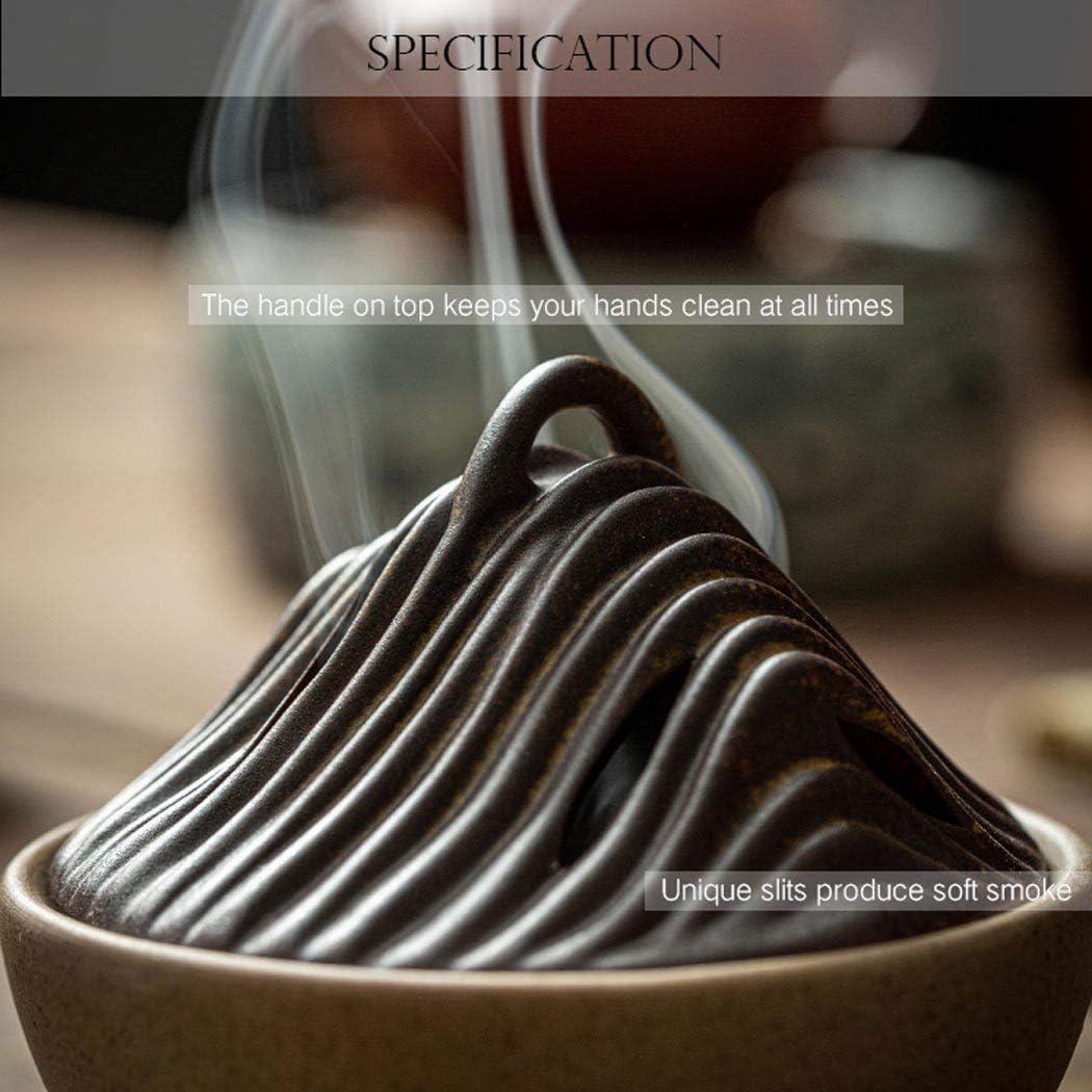 Incense Cone Burner,Incense Stick Holder-Handmade Ceramic Ash Catcher