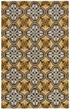 Rizzy Home OP8100 Opus Hand-Tufted Area Rug, 8-Feet by 10-Feet, Transitional, Gold