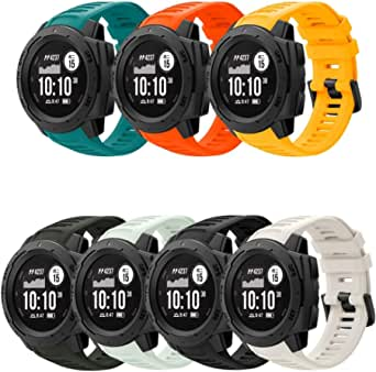Junboer Sport Watch Band Compatible with Instinct Bands, Soft Silicone Adjustable Strap Replacement Fitness Wristband for Instinct GPS Smart Watch with Adapter Tools