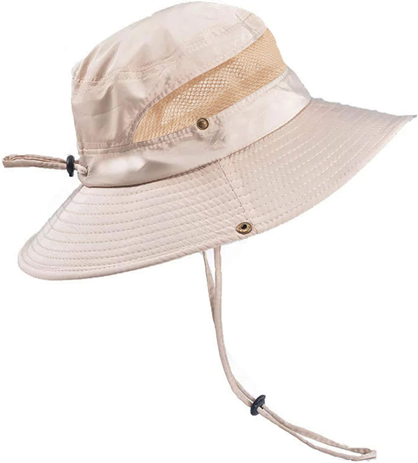 Gray Sun//Fishing Hat Large Brimmed Flap Cap w//2 adjust Cover Cord for Unisex