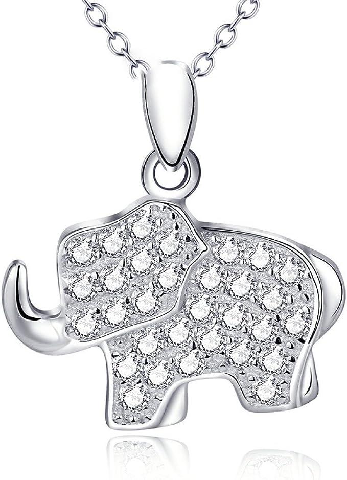 ccxx Collares De Mujer Elefante Colgante Mimosa Animal Plata De ...