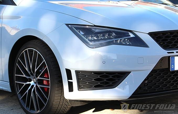 Finest-Folia kiemen Pantalla Negro Apta para Seat Leon Cupra 5 F SC St Performance FR: Amazon.es: Coche y moto