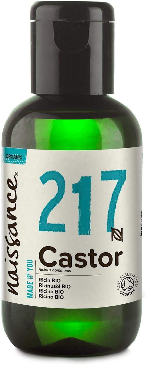 Naissance Aceite Vegetal de Ricino BIO 60ml - 100% puro, prensado en frío, certificado ecológico, vegano, sin hexano y no OGM: Amazon.es: Salud y cuidado personal