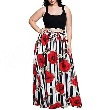 BoBo-88 Falda Maxi Larga De Las Mujeres Falda Larga Maxi Falda ...