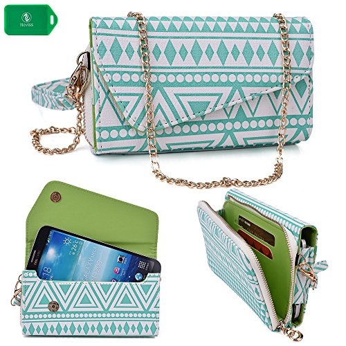 Price comparison product image Clutch smartphone case/wallet- Blue - Universal fit for Nokia Lumia 1520