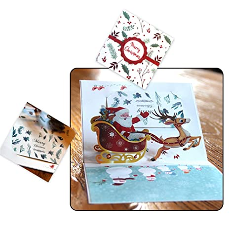 Wedding & Anniversary Bands Bands Without Stones Dependable Handicraft 3d Holiday Greeting Cards Santas Sleigh Deer Pop Up Thanksgiving Invitations Card