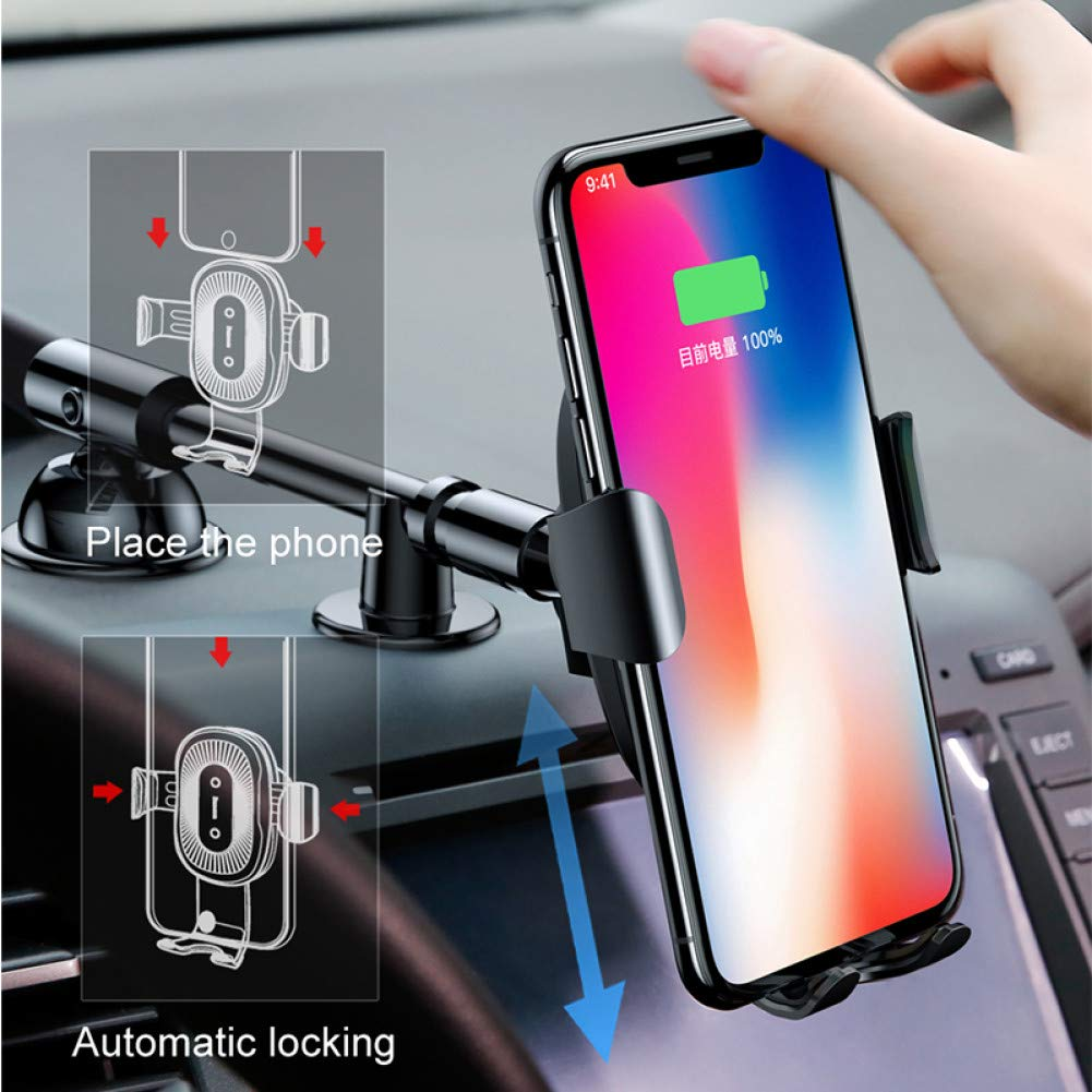 CZWXCDQ Wireless Charger Wireless Charger Car Phone Holder for iPhone Xs Mount Holder Fast Wireless Charging for Car Mobile Phone Holder Stand