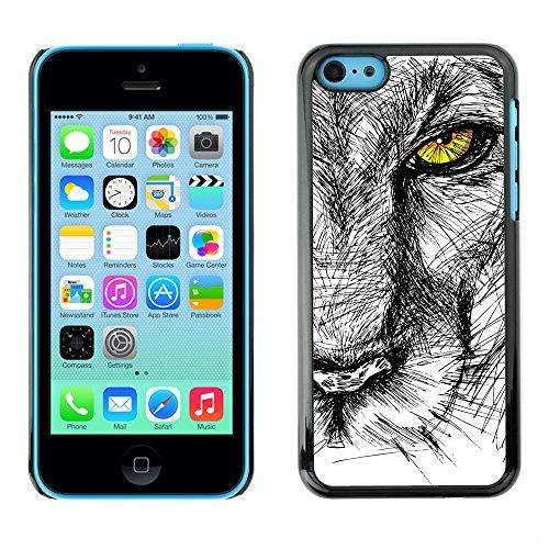 Premio Sottile Slim Cassa Custodia Case Cover Shell // V00001712 croquis de lion // Apple iPhone 5C