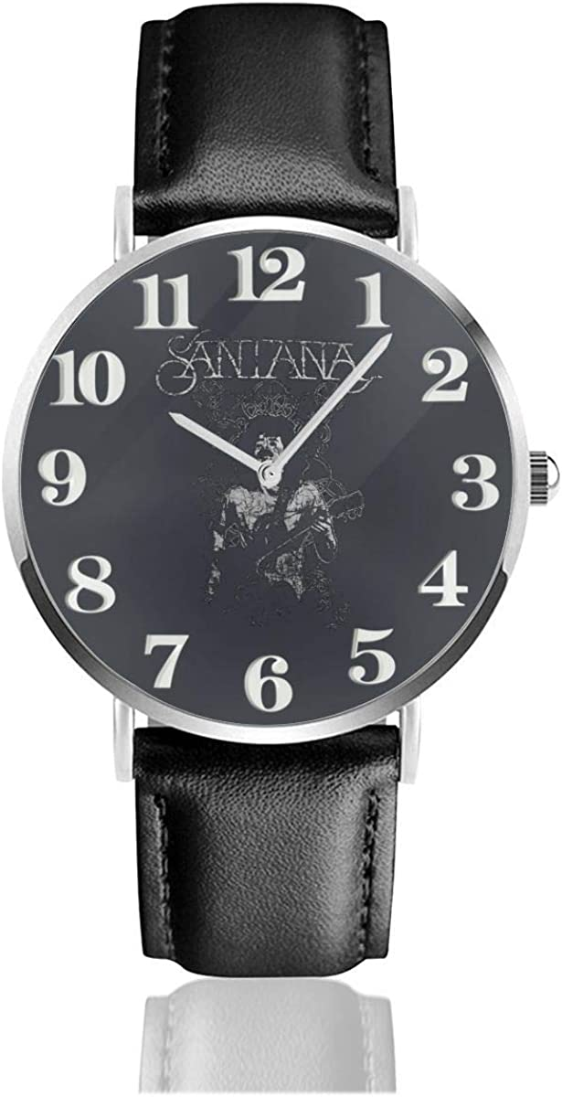 Relojes Anolog Negocio Cuarzo Cuero de PU Amable Relojes de Pulsera Wrist Watches Santana