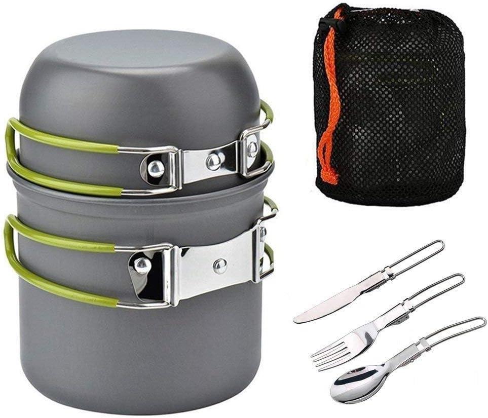 FYHCY Utensilios de Cocina para Camping Kit 1-2 Personas de ...