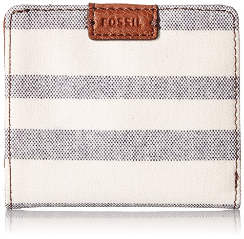 Fossil Emma RFID Mini Wallet, Blue Stripe