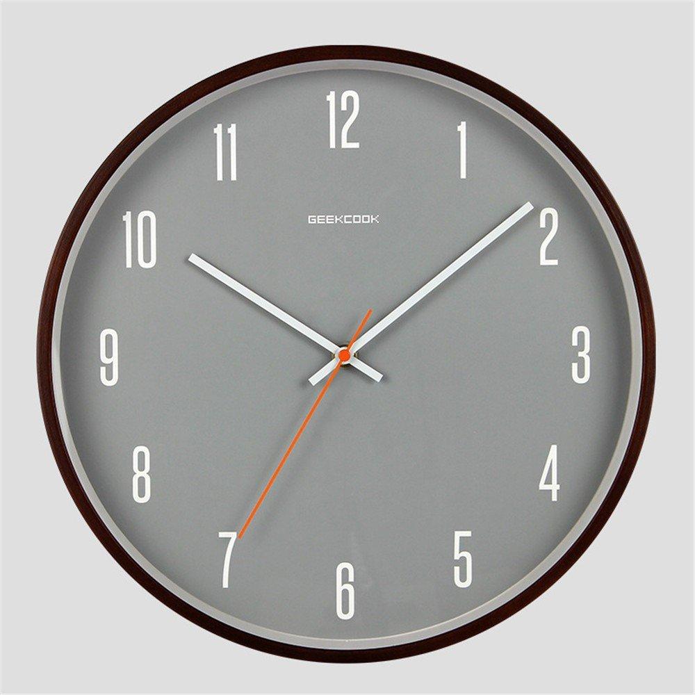 WTT Uhr Metall und Gebogener Hölzerner Rahmen stummer Haupttaktgeber ...
