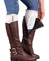 Coromose® 2015 Women Lace Stretch Boot Leg Cuffs Leg Warmers Socks Topper Cuff