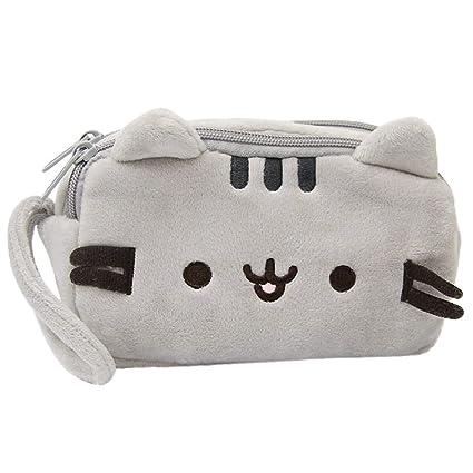 Bolsillo de Cosmético de Peluche de Gato para Mujer Chicas y Niñas Pequeño Super Linda Chica